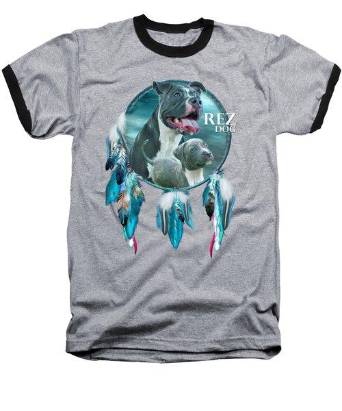 Rez Dog Cover Art Baseball T-Shirt by Carol Cavalaris