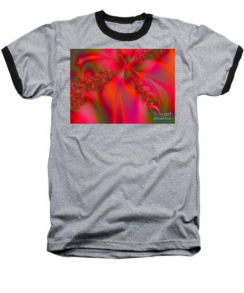 Rhapsody In Red Baseball T-Shirt by Robert ONeil