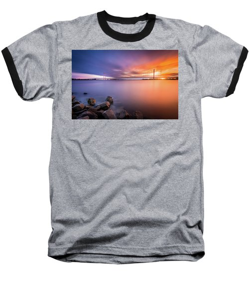 Rhine Bridge Sunset Baseball T-Shirt