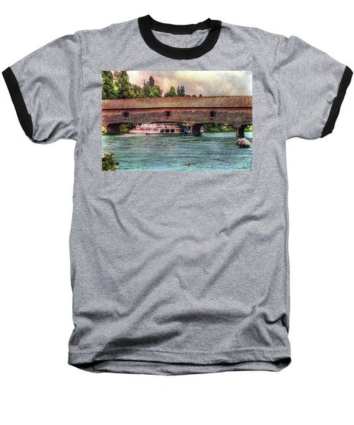 Baseball T-Shirt featuring the photograph Rhine Shipping by Hanny Heim