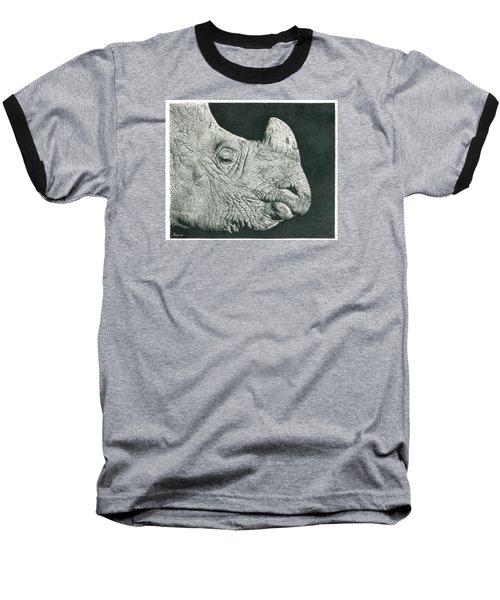Rhino Pencil Drawing Baseball T-Shirt