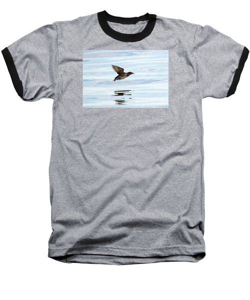 Rhinoceros Auklet Reflection Baseball T-Shirt by Mike Dawson
