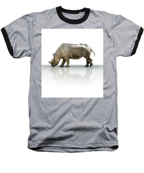 Rhinoceros Baseball T-Shirt by James Larkin