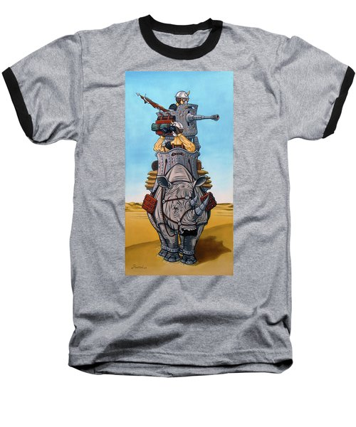 Rhinoceros Riders Baseball T-Shirt