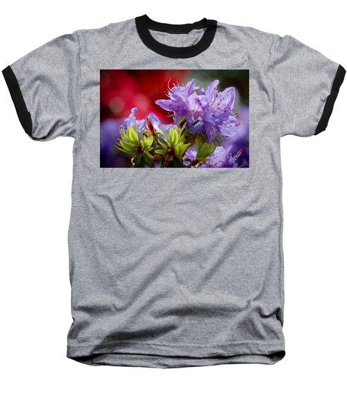 Rhododendron Bluebird Baseball T-Shirt