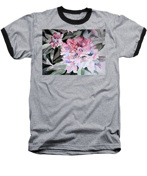 Rhododendron Rose Baseball T-Shirt