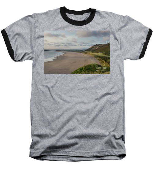 Baseball T-Shirt featuring the photograph Rhossili Bay, South Wales by Perry Rodriguez