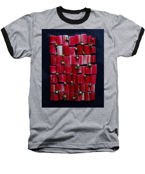 Rhubarb Wall Baseball T-Shirt