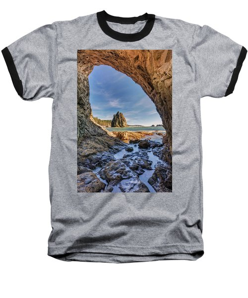 Rialto Beach Sea Arch Baseball T-Shirt by Pierre Leclerc Photography