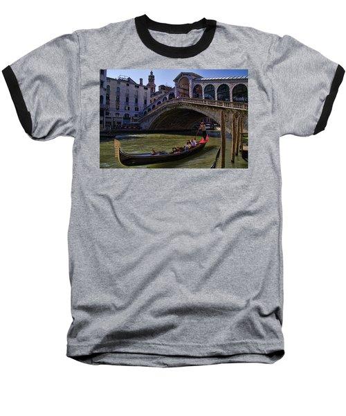 Rialto Bridge In Venice Italy Baseball T-Shirt by David Smith