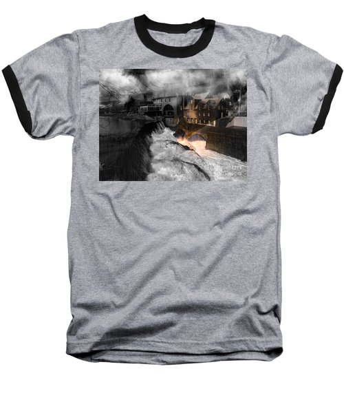 Rainbow In The Mist Baseball T-Shirt by Sherman Perry