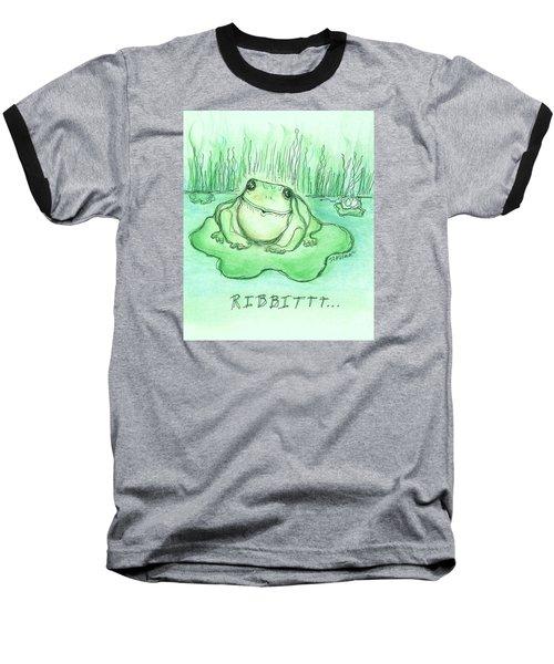 Ribbittt.... Baseball T-Shirt by Denise Fulmer