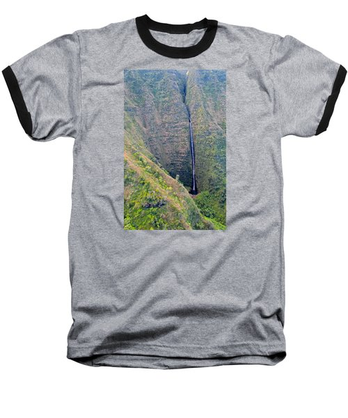 Ribbon Falls On The Napali Coast Baseball T-Shirt by Brenda Pressnall