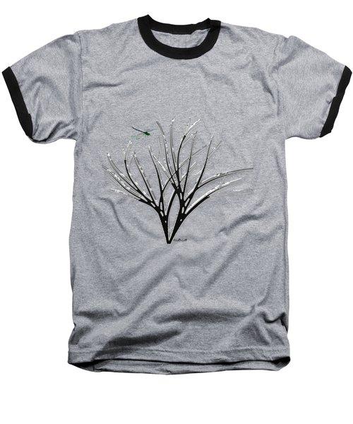 Ribbon Grass Baseball T-Shirt by Asok Mukhopadhyay
