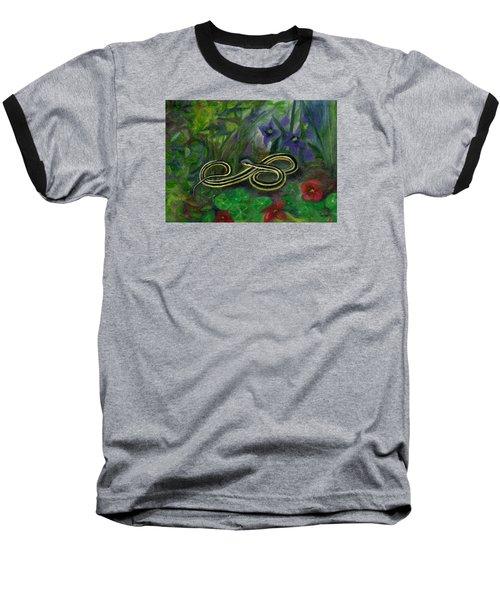 Ribbon Snake Baseball T-Shirt by FT McKinstry