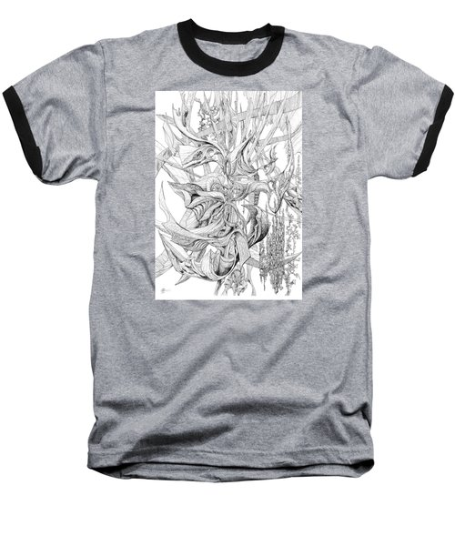 Ribboned Baseball T-Shirt by Charles Cater