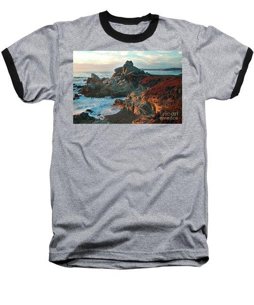Ribera Beach Sunset Carmel California Baseball T-Shirt