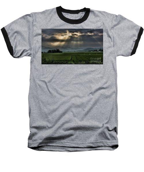 Rice Fields Rays Light  Baseball T-Shirt