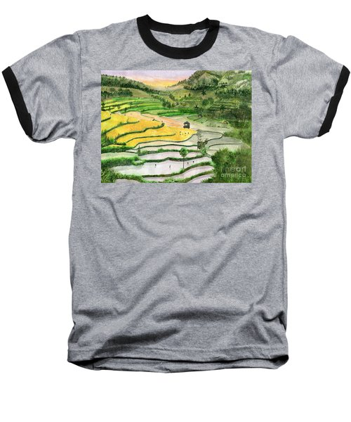 Ricefield Terrace II Baseball T-Shirt by Melly Terpening
