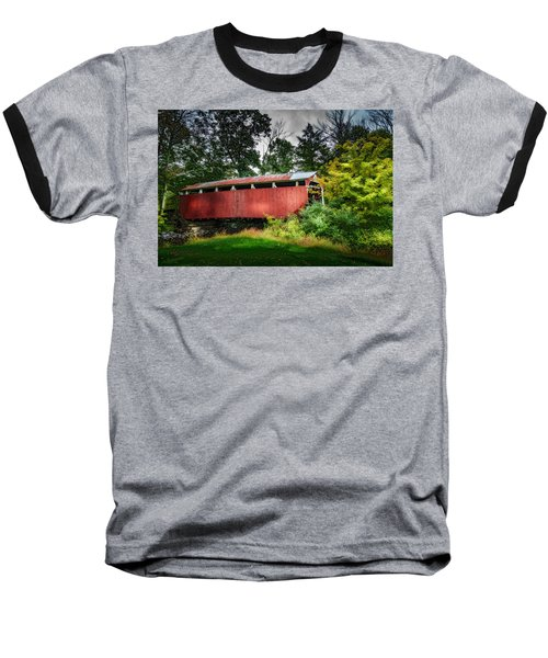 Baseball T-Shirt featuring the photograph Richards Covered Bridge by Marvin Spates