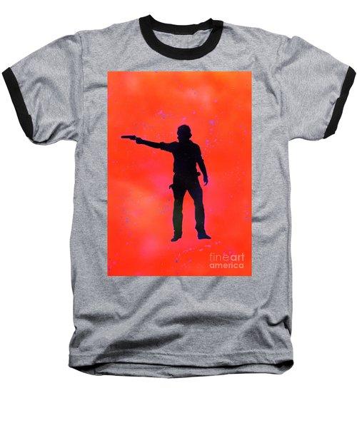 Rick Grimes Baseball T-Shirt by Justin Moore