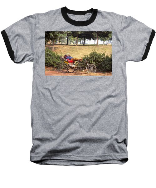 Rickshaw Rider Relaxing Baseball T-Shirt