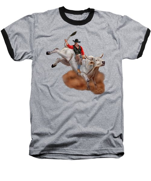 Ride 'em Cowboy Baseball T-Shirt by Glenn Holbrook