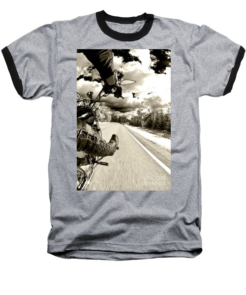 Ride To Live Baseball T-Shirt by Micah May