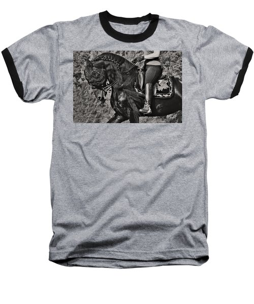 Rider And Steed Dance Baseball T-Shirt by Wes and Dotty Weber
