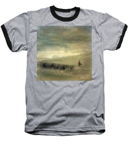 Rider In The Storm Baseball T-Shirt