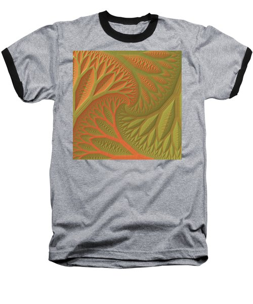 Baseball T-Shirt featuring the digital art Ridges And Valleys by Lyle Hatch
