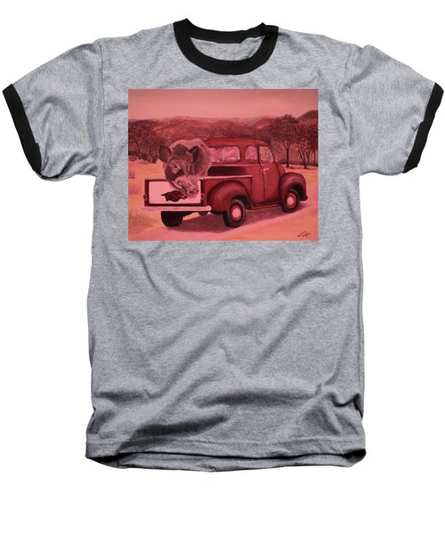 Ridin' With Razorbacks 3 Baseball T-Shirt by Belinda Nagy