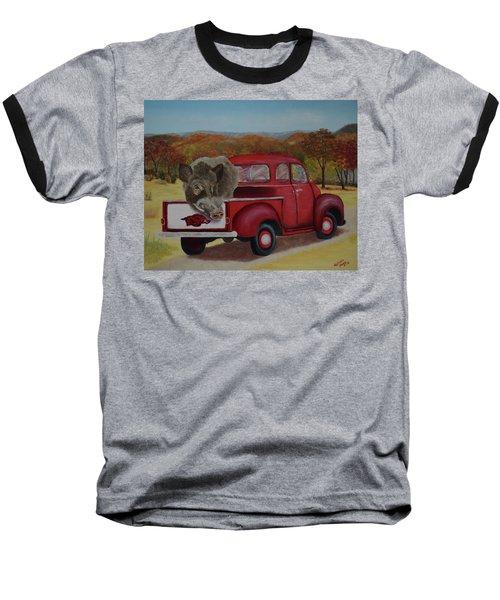 Ridin' With Razorbacks Baseball T-Shirt by Belinda Nagy