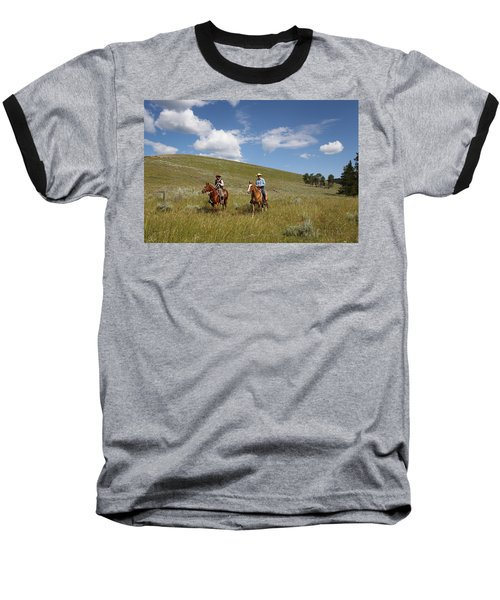 Riding Fences Baseball T-Shirt