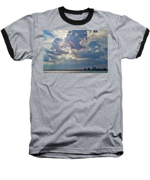 Riding In The Storm Baseball T-Shirt by Camille Lopez
