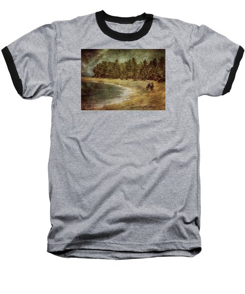Riding On The Beach Baseball T-Shirt