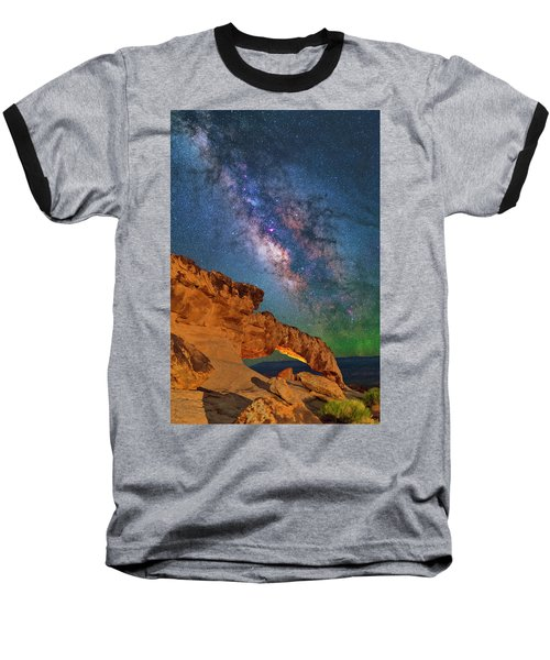 Riding Over The Arch Baseball T-Shirt