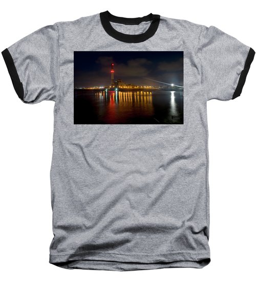 Baseball T-Shirt featuring the photograph Riding Station, Tel Aviv, Water Side by Dubi Roman