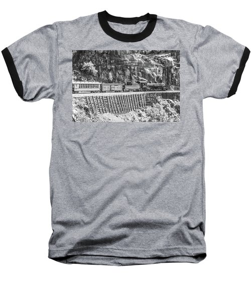 Baseball T-Shirt featuring the photograph Riding The Edge by Colleen Coccia
