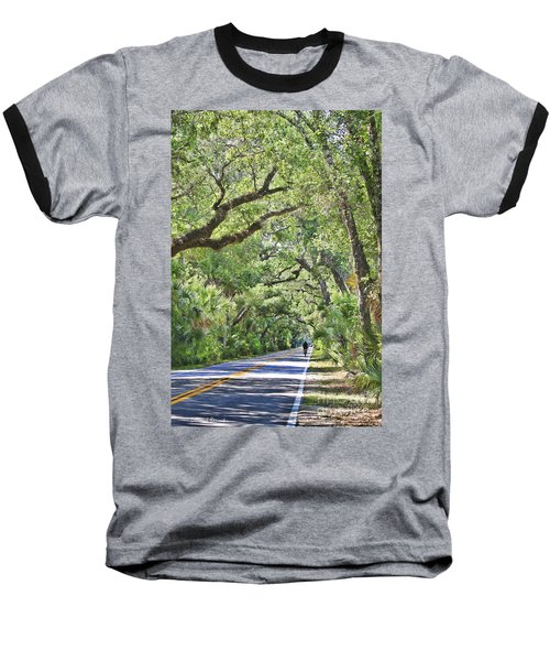Riding The Ormond Loop Baseball T-Shirt