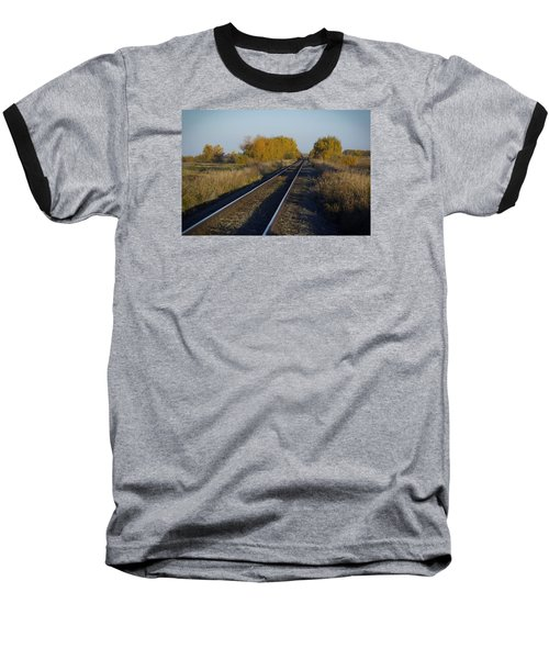 Riding The Rails Baseball T-Shirt by Ellery Russell