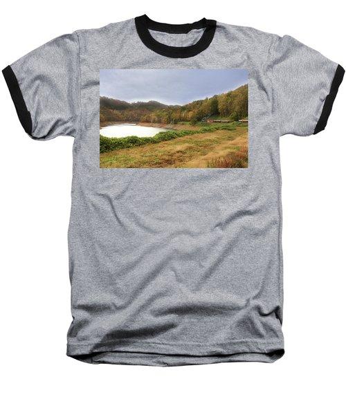 Baseball T-Shirt featuring the digital art Riding The Rails by Sharon Batdorf