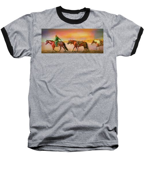Riding The Surf Baseball T-Shirt
