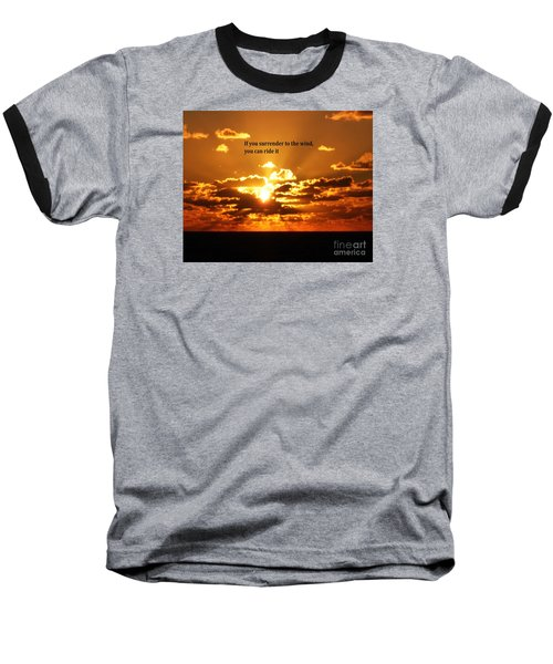 Baseball T-Shirt featuring the photograph Riding The Wind by Gary Wonning