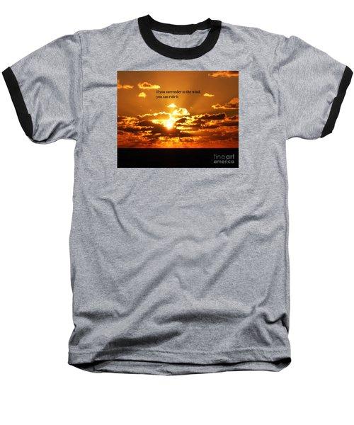Riding The Wind Baseball T-Shirt