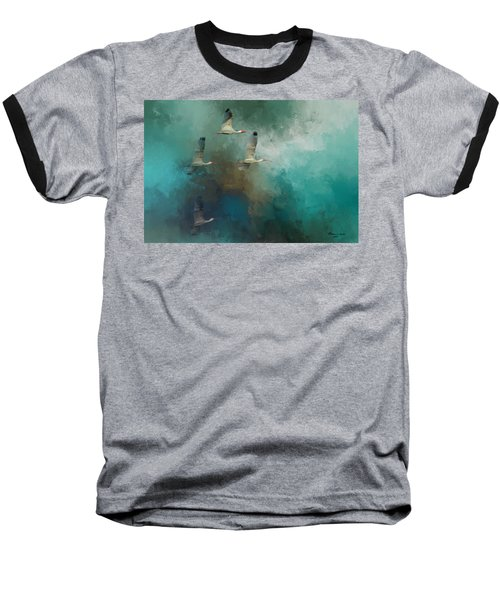Riding The Winds Baseball T-Shirt by Marvin Spates