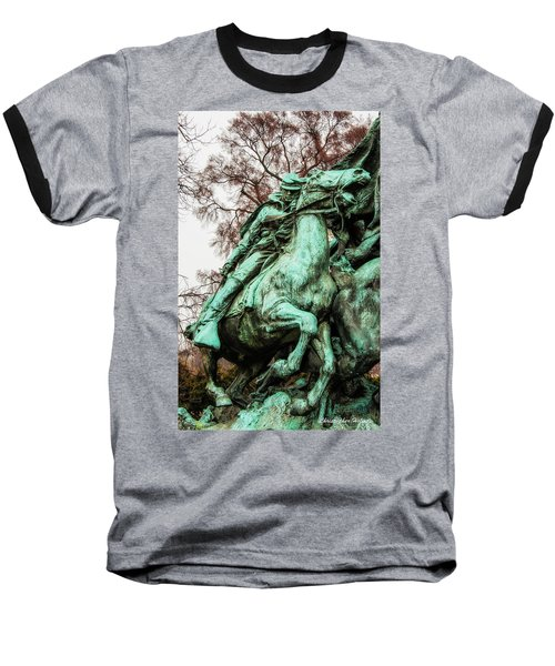 Baseball T-Shirt featuring the photograph Riding Tight by Christopher Holmes
