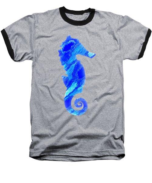 Right Facing Seahorse Bt Baseball T-Shirt