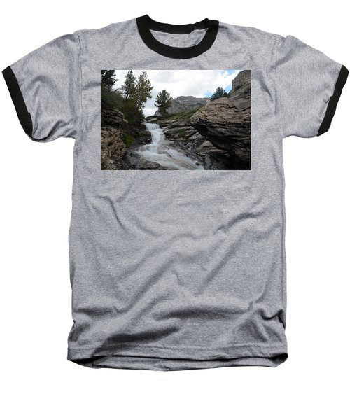 Baseball T-Shirt featuring the photograph Right Fork Waterfall by Jenessa Rahn