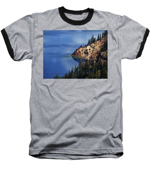 Right Side Of Crater Lake Oregon Baseball T-Shirt
